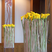 Jens Jakobson Events: art deco yellow calla lily